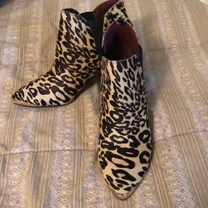 Report cow hide leopard boots